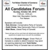 All Candidates Forum –