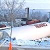 Overturned Truck on Alaska Highway