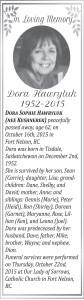 Dora Hawryluk In memory.indd