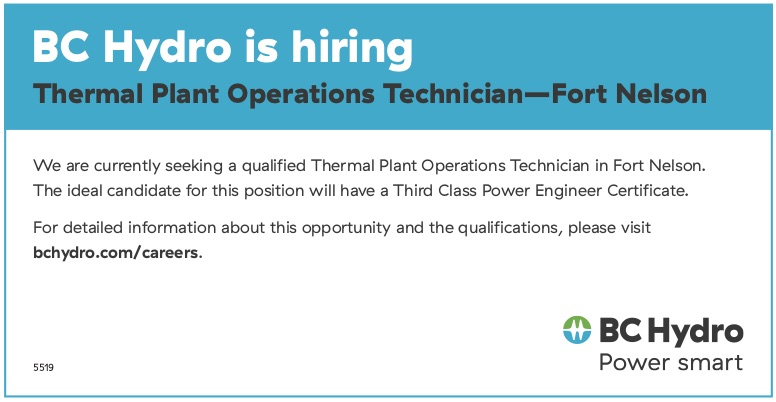 BC Hydro Is Hiring - Fort Nelson News | Fort Nelson News