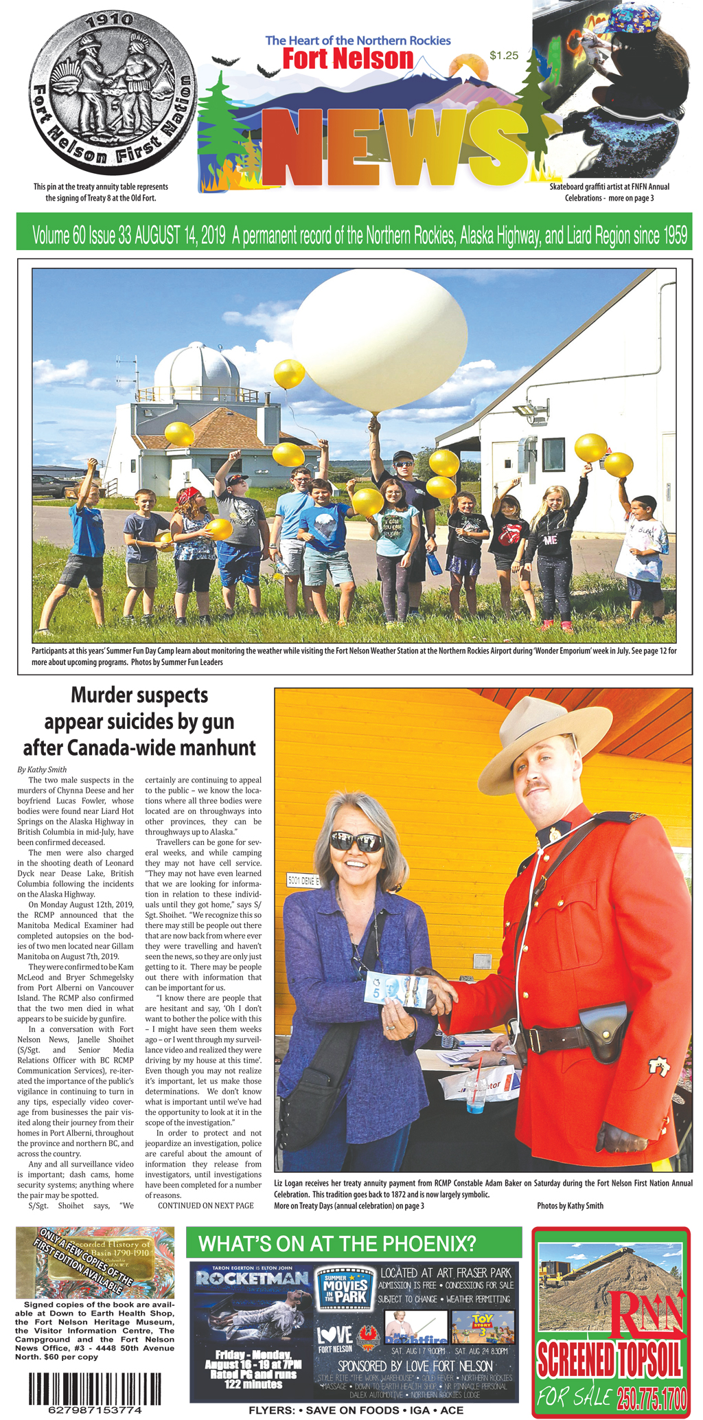 August 14, 2019 - Issue 33 Volume 60 - Fort Nelson News